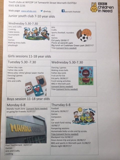 june july youth clubs