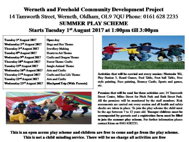Summer play scheme leaflet 7 on power point