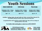 All Youth SessionsLeaflet