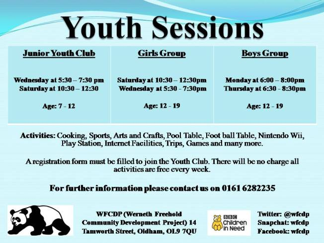 All Youth Sessions Leaflet